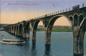 Ansichtskarte Körbecke (Möhnesee) Möhnetalviaduct Fahrgastschiff 1915