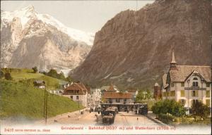 Ansichtskarte Grindelwald Straße Bahnhof 1911
