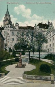 Ansichtskarte Sigmaringen Schloss und Denkmal 1911