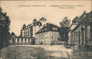 Ansichtskarte Bad Dürrheim Kurhaus und Salinehotel 1912