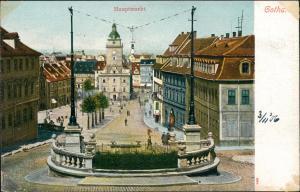 Ansichtskarte Gotha Hauptmarkt 1903