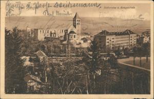 Ansichtskarte Bad Hersfeld Stiftsruine und Kriegsschule 1910