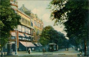 Ansichtskarte Düsseldorf Königsallee - Straßenbahn 1911