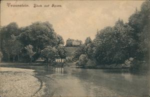 Ansichtskarte Traunstein Blick auf Sparz 1915