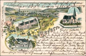 Litho AK Bevern (LK Holzminden) Gasthaus, Stadt, Wilhelmstift 1899