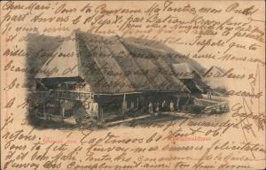 .Baden-Württemberg Schwarzwald (Mittelgebirge) Schwarzwaldhaus 1906