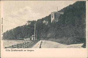 Ansichtskarte Bregenz Partie Strasse a.d. Villa Grafenreuth bei Bregenz 1900