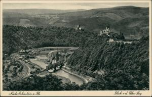 Niederlahnstein-Lahnstein Panorama-Ansicht Blick v.d. Uhu-Lay 1930