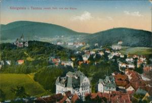 Ansichtskarte Königstein (Taunus) Panorama-Ansicht Blick von der Ruine 1917