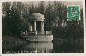 Ansichtskarte Uerdingen-Krefeld Crefeld Stadtpark mit Deuss-Tempel 1932