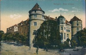 Ansichtskarte Stuttgart Altes Schloss - Old Castle, Strassen Partie 1910