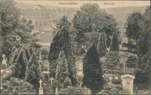 Ansichtskarte Saarbrücken Ehrental-Friedhof 1919