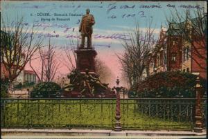 Ansichtskarte Düren Bismarck Denkmal 1919