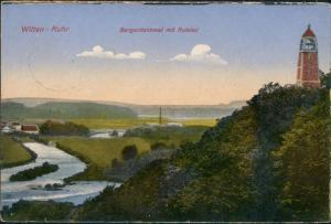 Ansichtskarte Witten (Ruhr) Bergerdenkmal mit Ruhrtal 1924