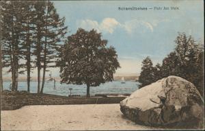 Ansichtskarte Diensdorf-Radlow Dampfer Scharmützelsee am Stein 1909