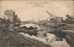 Ansichtskarte Ludwigshafen Luitpolshafen Dampfer Krähne 1919