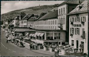 Ansichtskarte Rüdesheim (Rhein) Rheinstraße - VW Käfer 1961