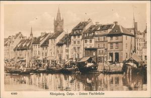 Königsberg (Ostpreußen) Калининград Untere Fischbrücke 1922