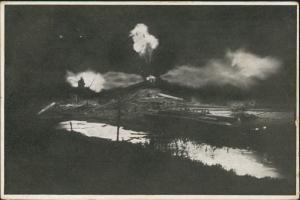 Ansichtskarte Bergedorf-Hamburg Erdgasbrand Neuengamme Vierlanden 1910