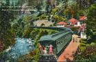 Kalifornien Railway Eisenbahn Shasta Springs Pacific Park-Eisenbahn 1920
