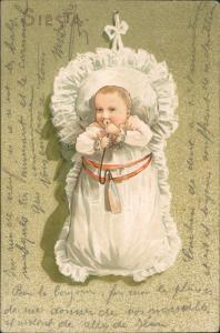 Ansichtskarte  Baby Kleinkind mit Nuckel