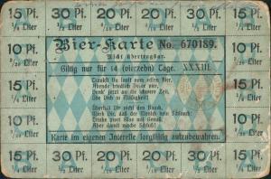 Ansichtskarte  Scherzkarte Alkohol Trinkerei BIER-KARTE 1916