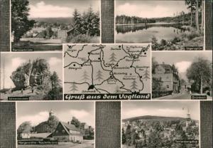 Ansichtskarte Morgenröthe-Rautenkranz Mehrbild Umland Städte 1972