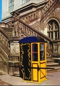 Ansichtskarte Dresden Portechaise oder Sänfte Verkehrsmuseum 1987