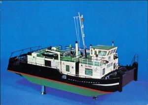 Dresden Verkehrsmuseum/Johanneum - Stromschubschiff (Modell M 1:25) 1979