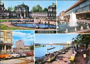 Dresden Zwinger, Kulturpalast, Pirnaische Platz, Brühlsche Terrasse 1977