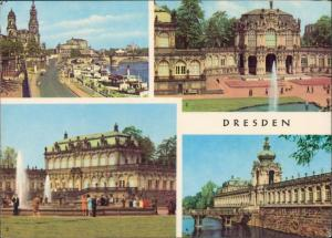 Ansichtskarte Dresden Stadt, Zwinger, Dampfer 1967