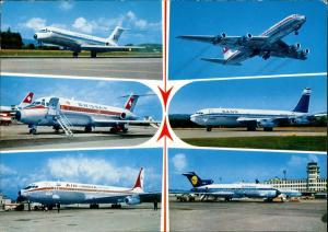 Swissair DC 9 Air India Boeing 707 Lufthansa Boeing 727 Flugzeug 1982