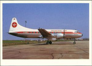 Ansichtskarte Fuhlsbüttel-Hamburg GENERAL AIR Convair CV.440 Flugzeug 1989