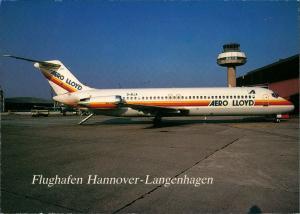 Ansichtskarte Hannover Langenhagen Douglas DC-9 Aero Lloyd 1976