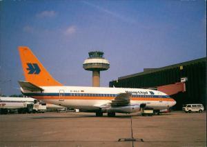 Ansichtskarte Hannover Boeing B737 Hapag Lloyd Langenhagen 1986