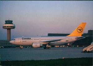 Ansichtskarte Hannover Langenhafen CONDOR Airbus 310 1985