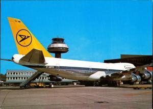 Ansichtskarte Hannover Boeing 747 Condor Flughafen Langenhagen Flugzeug 1983
