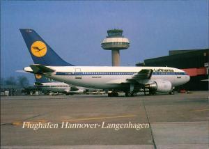 Ansichtskarte Hannover Airbus A310 Lufthansa Langenhagen Flugzeug 1984