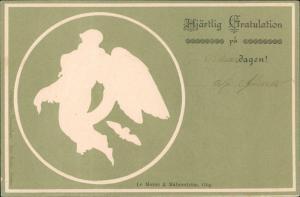chweden Sverige Mjärtlig Gratulation, Danksakung Kunst-Motiv-AK 1900 Prägekarte