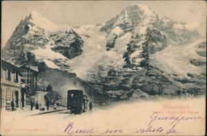 _Kanton Bern Allgemein Wengernalp Station Bahnhof am Eiger mit Mönch 1902