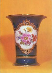 Ansichtskarte  Bechervase mit handgemalten Blumen (DDR-Postkarte) 1978