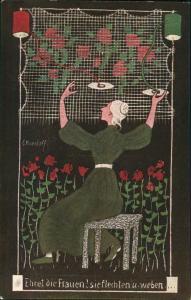 Ansichtskarte  Ernst Kreidolf, Ehret die Frauen, Kunstwart-Bildkarte 1920