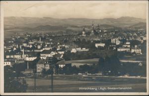 Hirschberg (Schlesien) Jelenia Góra Panorama Gesamtansicht Riesengebirge 1927