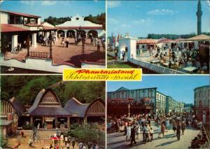 Ansichtskarte Brühl Phantasialand Mehrbild-AK 4 Fotos Abenteuerparadies 1975
