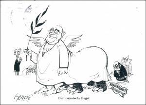 Ansichtskarte  Walter Hanel Karikaturist