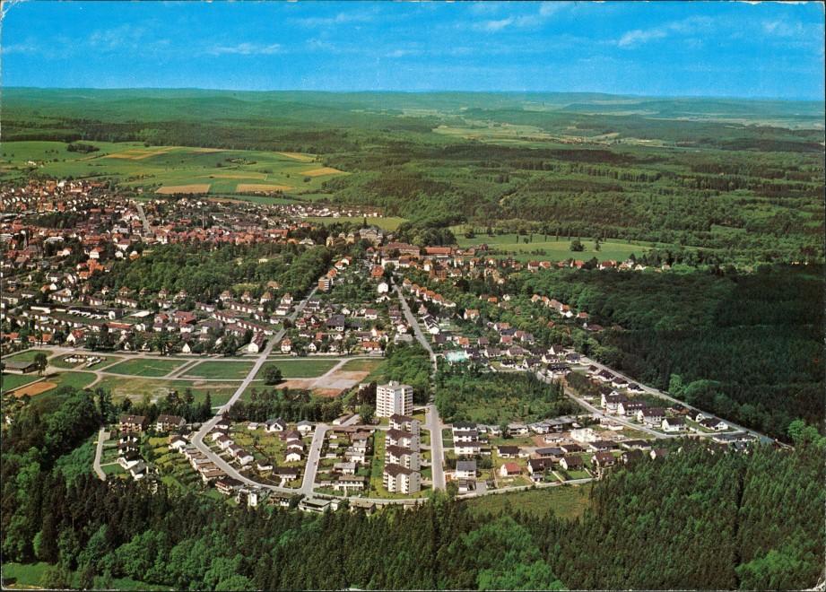 Ansichtskarte Bad Arolsen Luftbild Überflug Panorama Gesamtansicht 1988 0