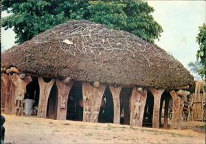 Ansichtskarte  MALI Afrika Africa Tougouna Hütten Agora Dogon 1983/1981