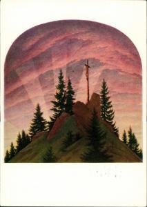 Künstlerkarte: Gemälde / Kunstwerke Caspar David Friedrich 1987
