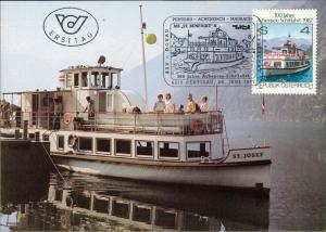 Achensee See Schiff ST. JOSEF, Ersttag 100 Jahre Achensee Schiffahrt 1987