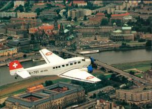 Ansichtskarte Dresden Luftbild - Tante Ju-52 1996